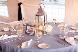 nice lantern with glass candle inside for round wedding table