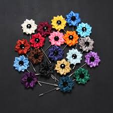 lapel flowers 20 pcs lot mens kanzashi flower lapel pin wedding boutonniere