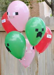 minecraft balloons aly dosdall diy minecraft party decor part 2