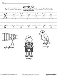 all worksheets preschool letter x worksheets printable