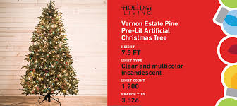shop living 7 5 ft pre lit artificial tree with