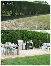 Slab Patio Makeover by 10 Beautiful Outdoor Makeovers And Sweet Words From Our