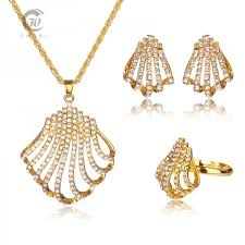 womens gold pendant necklace images Pendant necklaces women accessories wedding african beads jewelry jpg