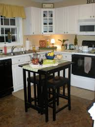 pictures of kitchen islands in small kitchens square black stained wooden portable kitchen island as dining
