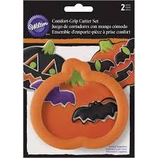 Comfort Grip Cookie Cutters Pumpkin U0026 Bat Halloween Cookie Cutter Set Wilton