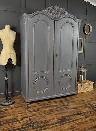 grey shabby chic antique ornate top double wardrobe sold items