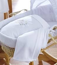 Moses Basket Coverlet Baby 10 Piece Nursery Starter Set