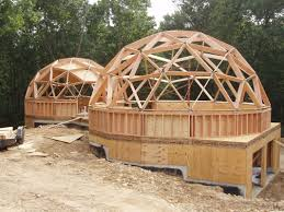 A Framed Houses by Your Guide To Wood Frame Dome Home Construction