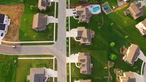 flying over houses in miami beach stock footage video 12078281