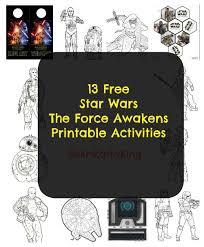 13 free star wars force awakens printable activities