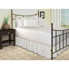 Bed Frame Skirt Harmony Ruffled Bed Skirt With Split Corners