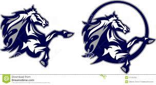 mustang broncos football mustang bronco mascot logo stock photo image 17143150