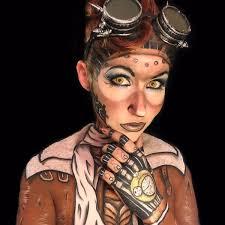 steampunk makeup guide special fx pilot face u0026 body paint for