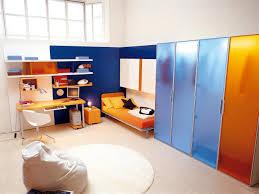 playful orange bedroom interior design ideas
