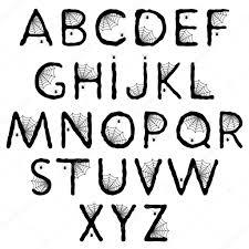 halloween alphabet with spider web u2014 stock vector natasha55
