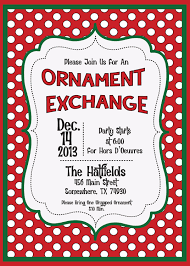 Christmas Ornament Party Invitations - holiday invite christmas ornament exchange swap by molsdesigns