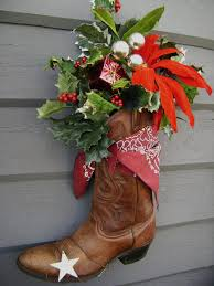Cowboy Christmas Decorating Ideas Make A Ski Boot And Use It In The Garden Club Show Gardening