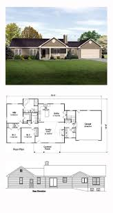 ranch house plan 49189 total living area 1789 sq ft 3