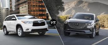 toyota highlander vs 2016 mazda cx 9