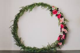flower wreath diy silk flower wreath with afloral green wedding shoes