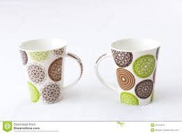 Design Mugs by White Mugs With Colored Design Royalty Free Stock Image Image