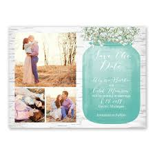 cheap save the date cards babys breath save the date card s bridal bargains
