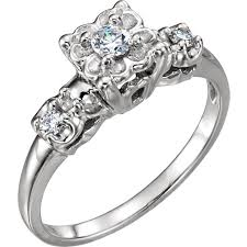 engagement rings vintage style style engagement ring or band