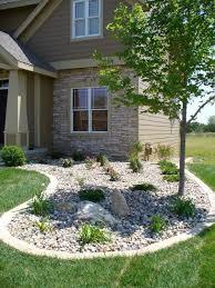 River Rock Garden Bed Iowa Landscaping Ideas River Rock Edging Landscaping Ideas