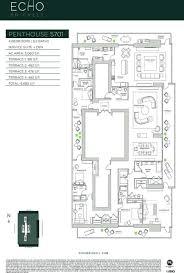 carlos ott penthouse model echo brickell floor plan floor plan