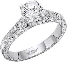 diamond engraved rings images Flyerfit hand engraved solitaire engagement ring 5137esol aeng png