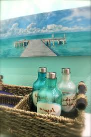 beach painting and accessories for bathroom decor beach bathroom