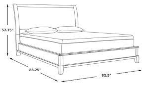 King Platform Bed Belcourt Cherry 3 Pc King Platform Bed With Lattice Headboard