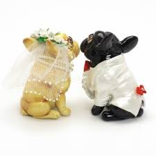 french bulldog wedding cake topper p0011 dog lover figurine