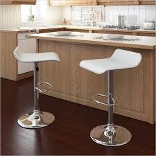 Kitchen Countertop Height 35 Stylish Modern Adjustable White Leather Bar Stools