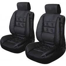 couvre siege cuir couvre siège en simili cuir rembourré intégral noir 675 achat