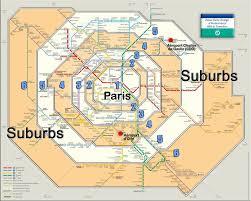 Paris France Map by Paris France Metro Zones 1 6 Map