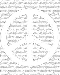 spectacular peace and love coloring pages printable with peace