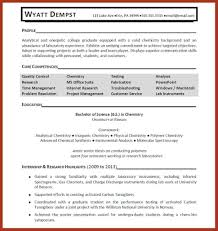 Resume Sample For College Graduate by Resume Sample Chemistry Graduate Templates