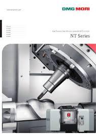 nt series dmg mori pdf catalogue technical documentation