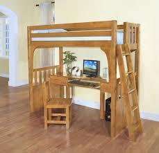 build full size loft bed with desk underneath u2014 modern storage
