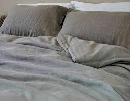 natural linen duvet cover in dark shade heavy rustic linen