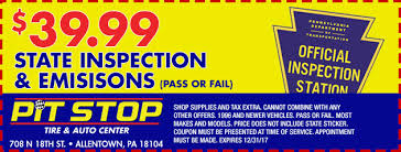 Brake And Light Inspection Price Pit Stop Tire And Auto Center Auto Repair U0026 Tires In Allentown