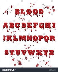 vector blood font made blood halloween stock vector 419213953