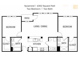 Sycamore Floor Plan 2 Bed 2 Bath Apartment In Ellicott City Md Orchard Meadows At