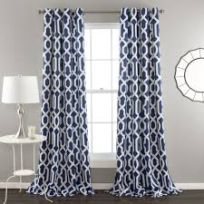 Navy Blue And White Striped Curtains by Navy Curtain Panels Roselawnlutheran