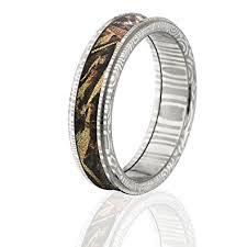 realtree wedding bands damascus steel camo rings camo wedding rings realtree max 5