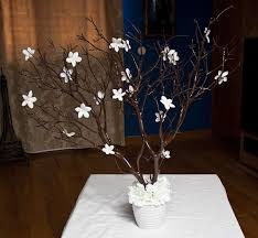 manzanita branches centerpieces manzanita branches centerpieces with pearl stephonatis wedding