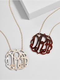 monogram necklace acrylic acrylic script monogram necklace baublebar