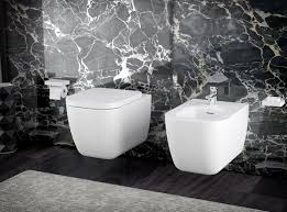 Square Toilet by Knief K Stone Rimless Square Wall Hung Wc And Bidet In Solid