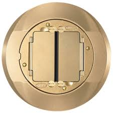 Hubbell Concrete Floor Boxes by Hubbell Wiring Device Carpet Flange U0026 Cover Systemone Brass